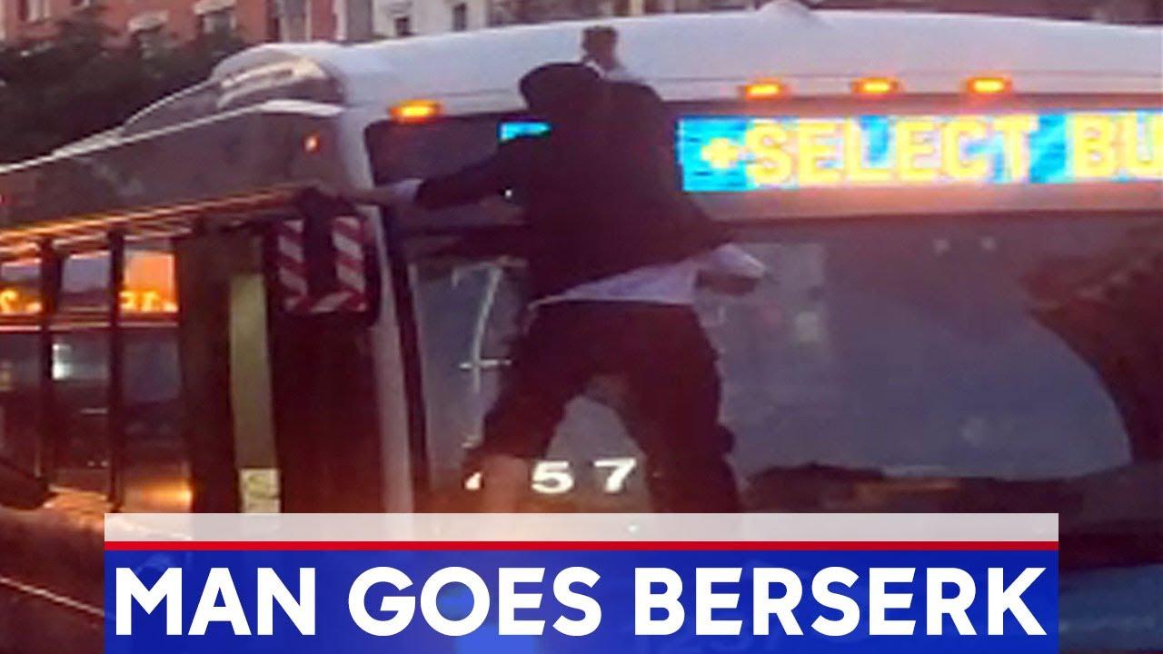 New York, Man Attacks MTA Bus