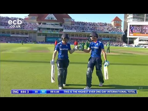 Eoin Morgan on scoring 444, Hales' 171 and Buttler fastest 50