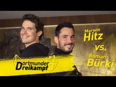 Roman Bürki vs. Marwin Hitz | The Dortmund Triathlon - Pounce!, Ball and Cup & Jenga