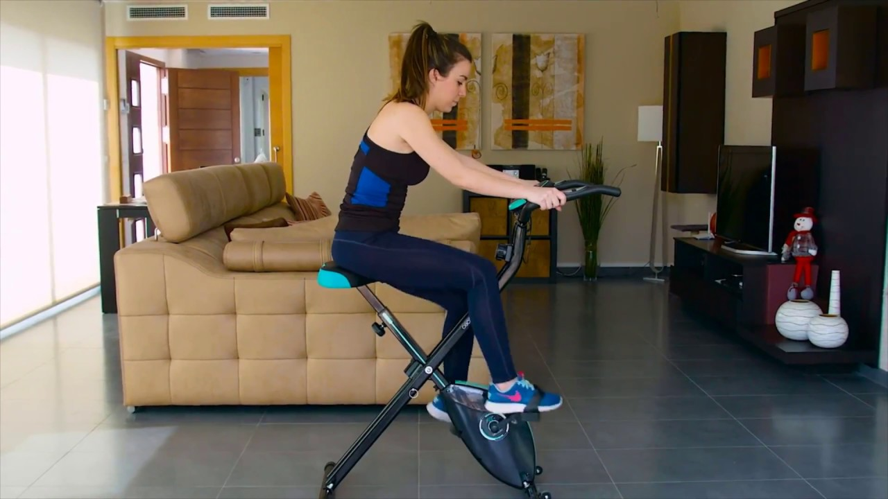 Static Fitness Foldable X-Bike for Home or Gym