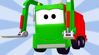 Tom la Grúa y La Super Patrulla con el Camión de Basura y el Tractor en Auto City| Dibujos animados