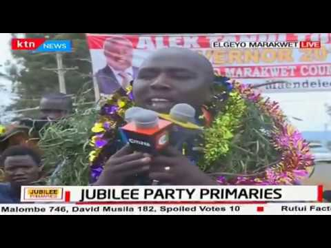 Senator Kipchumba Murkomen gives thanks to his wife and supporters for getting nominated under JAP