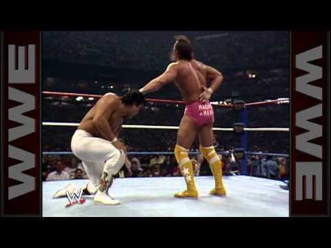 "Ricky ""The Dragon"" Steamboat overcomes Randy ""Macho Man"""