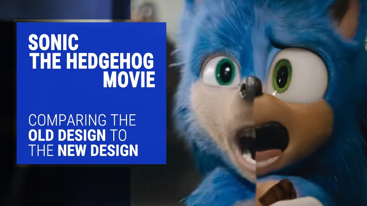 Sonic The Hedgehog Movie Trailer Comparison Old Vs New Youtube