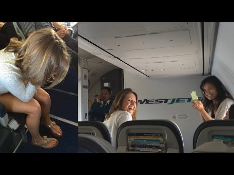 WestJet Flight Attendant Surprises Bride-To-Be
