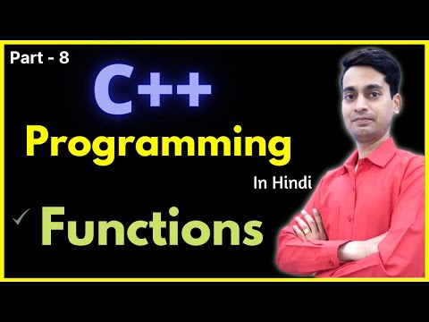 function in c++ in hindi | types of function | c++ programming tutorials  [Part-8] thumbnail