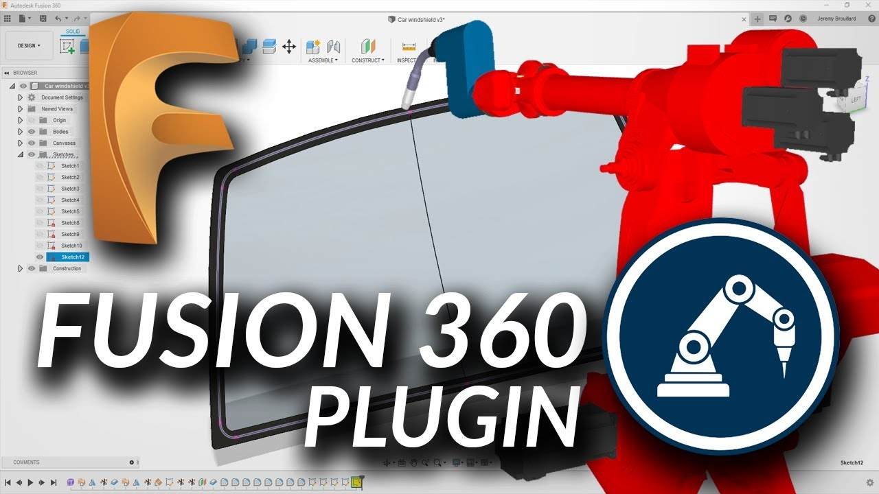 Get Cloud Robot CAD with the Fusion 360 Plug-In - RoboDK blog