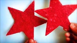 DIY woolen/yarn hanging Christmas star   New year party decoration star   Cardboard crafts