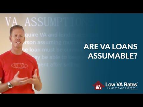 VA Loan Assumption   Are VA loans Assumable?