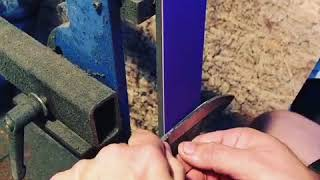 Grinding a knife without jig.
