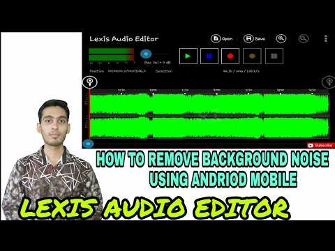 How to remove background noise using android mobile | Best audio editor for andriod| Hindi