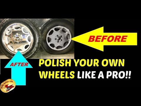 How To Polish Aluminum Wheels/Rims To LOOK LIKE CHROME