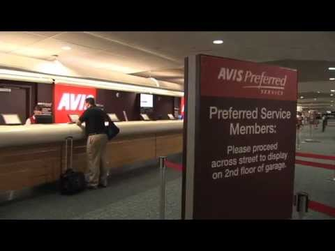 Orlando International Airport (MCO) - Finding Your Way to the Avis Counter