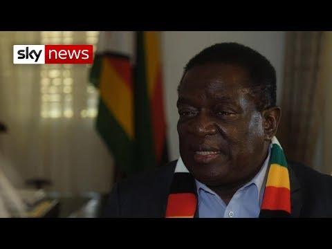Zimbabwe's Emmerson Mnangagwa says he wants to be the 'people's leader'