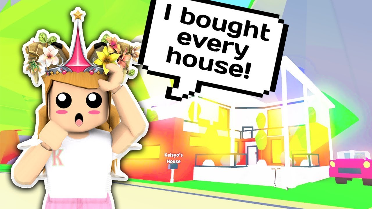 I BOUGHT EVERY SINGLE HOUSE IN ADOPT ME 🏠 // Roblox Adopt ...