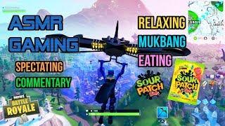 ASMR Gaming | Fortnite Mukbang Eating Sour Patch Kids Candy 먹방 ???????? Relaxing Whispering????????