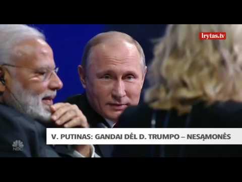 Vladimiras Putinas pareiškė neturintis jokios Donaldą Trumpą kompromituojančios medžiagos