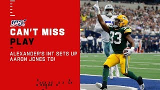 Jaire Alexander's Deflection INT Sets Up Aaron Jones TD