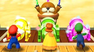 Mario Party 10 MiniGames Mario vs Peach vs Daisy vs Luigi Master