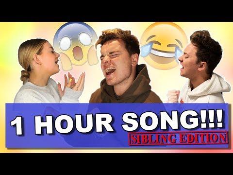 SIBLING ONE HOUR SONG CHALLENGE  ft Conor Maynard & Anna Maynard