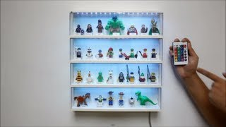 How to add 5050 RGB LED Light Strip to Lego Minifigure Display Case w RBG Controller