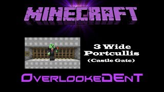 3 Wide Portcullis (Castle Gate) - Minecraft Xbox 360/PS3 - [Tutorial]