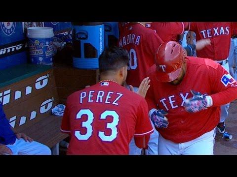 6/26/16: Perez, Choo lead Rangers to 6-2 win