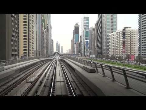 [dubai] Dubai Metro Union - Burj Khalifa view from Gold Class [1080/60p recording by DSC-HX9V]