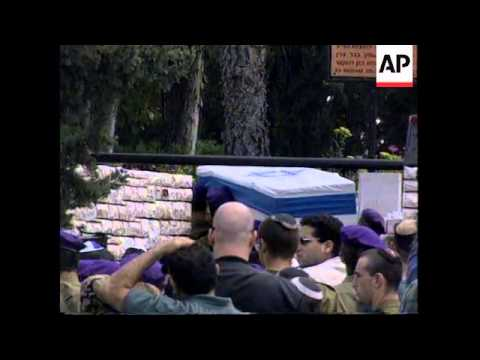 ISRAEL:  FUNERALS OF SUICIDE BOMB ATTACK VICTIMS UPDATE