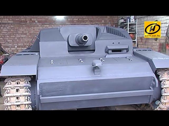 StuG III : как в Беларуси технику реставрируют? (Линия Сталина)