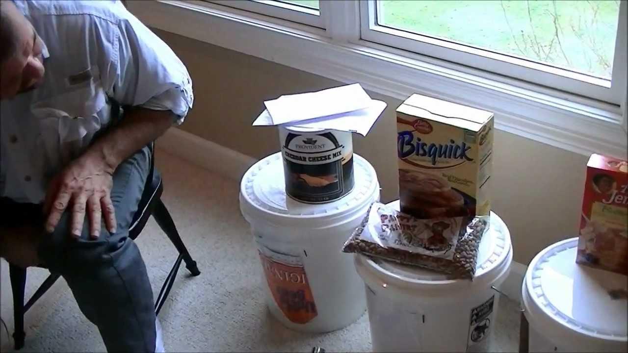 long term food storage. Use mylar bags hand warmer buckets. & long term food storage. Use mylar bags hand warmer buckets. - YouTube
