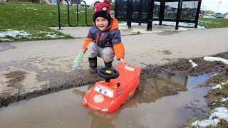 Zack and Disney Cars Lightning McQueen Car Wash 2