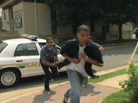 Guy running away from cops