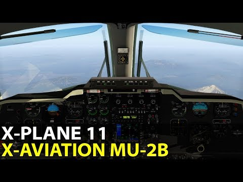 DME Arcs and Unstable Aircraft, X-Aviation Mitsubishi MU-2 in X-Plane 11, PilotEdge ✈️ 2017-10-27