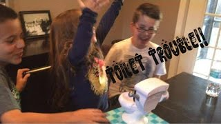Toilet TROUBLE Toy Review!