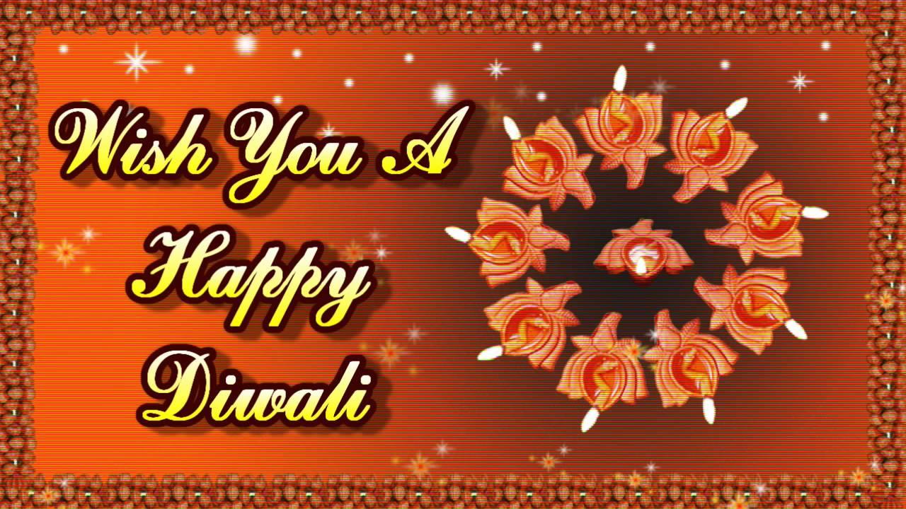 Happy Diwali Fireworks Greeting Cards Youtube