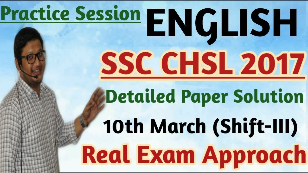 Download CHSL 2017 English 10th March Shift (III) Paper Solution  English with Mukul Sir   Must Watch Session