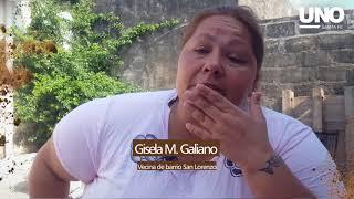 Gisela estaba embarazada cuando la ciudad quedó bajo agua