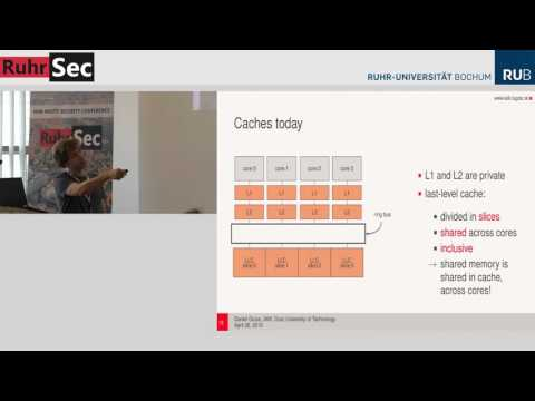 "RuhrSec 2016: ""Cache Side-Channel Attacks and the case of Rowhammer"", Daniel Gruss"