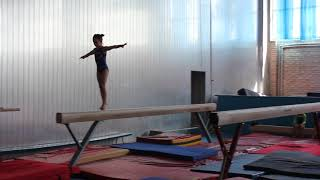 Бревно. Первый юношеский разряд. Милана Верзилова 6 лет. Спортивная гимнастика.