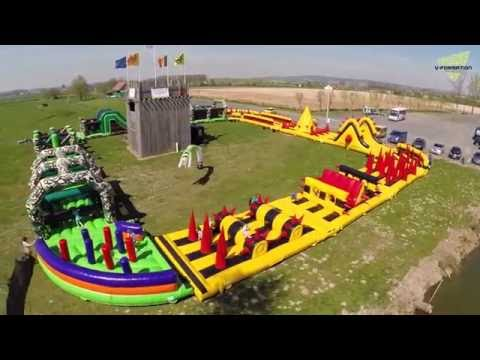 Ultimate Survival - 395ft / 120m Inflatable Obstacle Course!