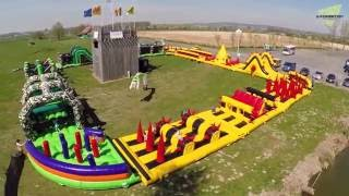 Ultimate Survival - 395ft / 120m Inflatable Obstacle Course - NEW CHANNEL