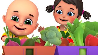 Yes Yes Vegetables Song | Learn Colors & Vegetables + More Nursery Rhymes & Kids Songs - Blue Fish