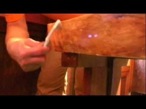 木の防水,保護コーティング,欅木製テーブルにGM-1508他,エポキシ塗布39