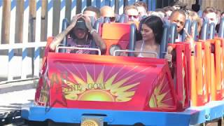 Kylie Jenner and Tyga enjoy a day at Disneyland in Anaheim, CA.