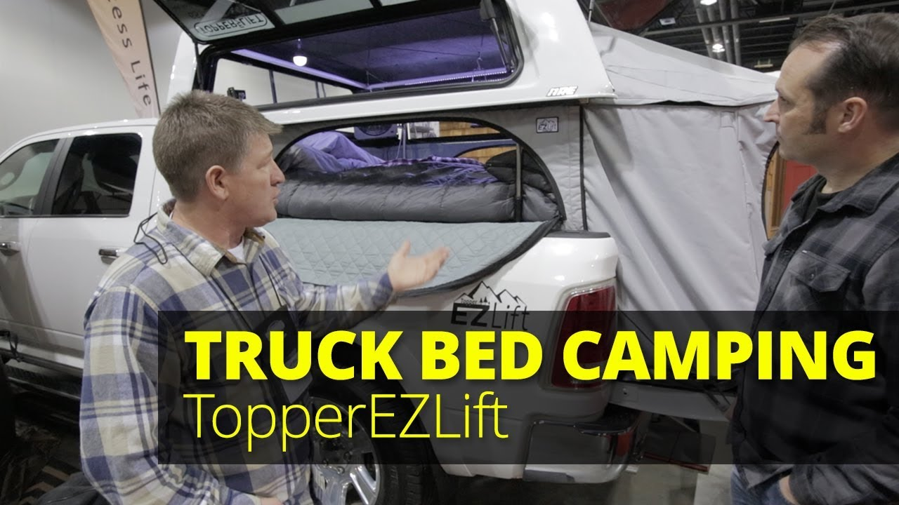 Turn Your Truck Bed And Topper Into A Pop Up Camper With Topperezlift Youtube
