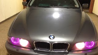 Installing BMW Halo Angel Eye Lights LED RGB From Ebay or Amazon E39 E53 E60 E63