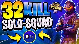 WORLD RECORD ATTEMPT! 32 KILL SOLO-SQUAD (Fortnite Battle Royale)