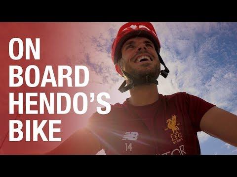 Tour de Reds   On board Jordan Henderson's bike ride to training in Germany