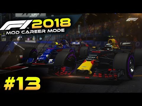 NIGHT RACE! - F1 2018 Mod Career Mode Part 13 - Singapore (F1 2018 Game Mod Gameplay)